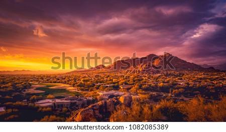 Scottsdale Arizona desert landscape,USA #1082085389