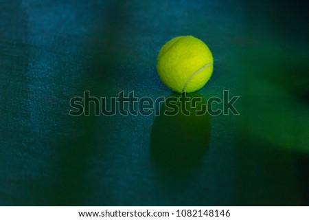 tennis ball on a field #1082148146