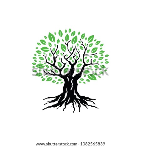 Tree Logo Template. Vector Illustration #1082565839