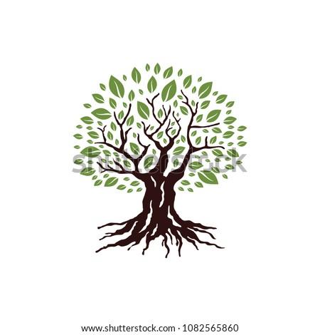 Tree Logo Template. Vector Illustration #1082565860