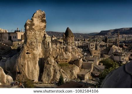 turkey, cappadocia, rock, landscape, travel anatolia goreme mountain nature tourism stone valley geology #1082584106