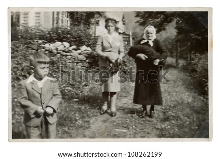 HORNI MARSOV, CZECHOSLOVAK REPUBLIC, CIRCA 1955 - Visit to grandma - circa 1955