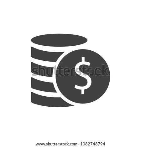 Money. Line Icon Vector. Payment system. Coins and Dollar cent Sign #1082748794