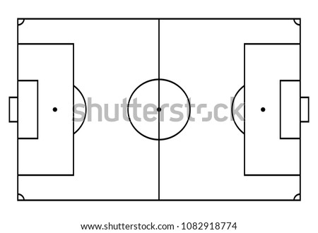 football, soccer court. Sport background. Line art style.