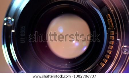 Camera Lens Close Up #1082986907