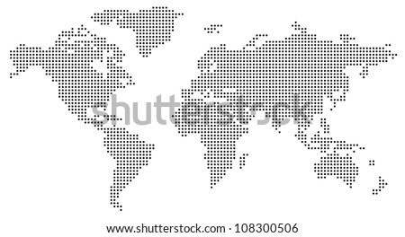 Dotted world map Royalty-Free Stock Photo #108300506