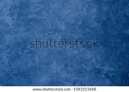 Texture of blue decorative plaster. Abstract background for design. #1083103688