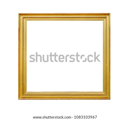 Gloden frame picture template with clipping path