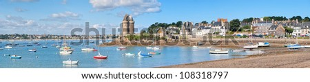Panoramic view of St Malo, Brittany, France #108318797