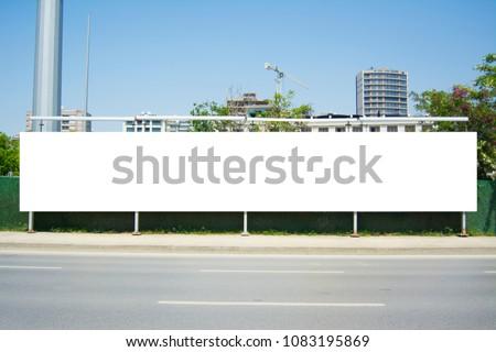 Long Billboard Blank Frame mockup