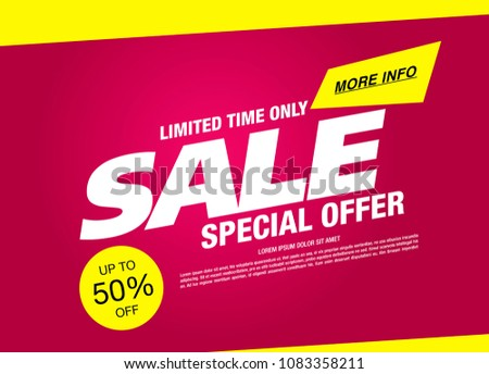 sale banner layout design #1083358211