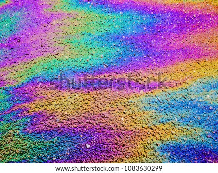 Oil Slick. Vibrant colored texture, abstract background. #1083630299