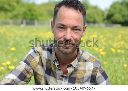 Beautiful happy man #1084096577