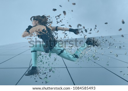 Motion caption virtual reality. Digital technology #1084585493