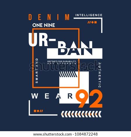 denim urban graphic typography t shirt design, vector vintage illustration artistic art Royalty-Free Stock Photo #1084872248