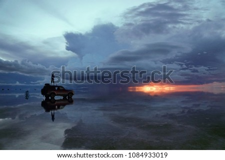 Sunset at Uyuni #1084933019
