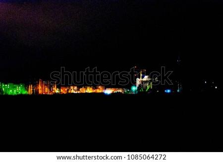 black shining night city #1085064272