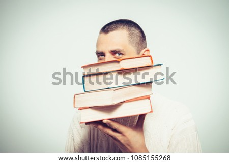 The man with a book #1085155268