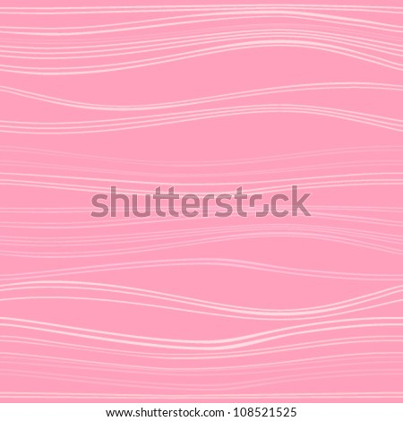 Seamless texture with pink waves. Vector.