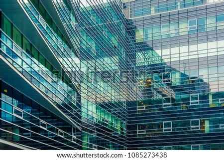 Office buiilding windows #1085273438