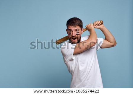 baseball player with bat, game                              #1085274422