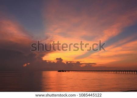 Beautiful sky on twilight time #1085445122
