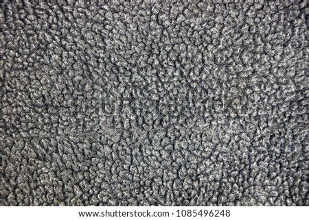 Gray fabric texture of wool #1085496248