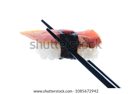 Sushi Isolate on white. Path included #1085672942