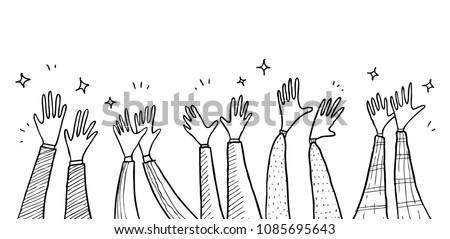 Applause hand draw