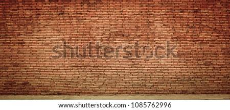red brick wall texture grunge background #1085762996