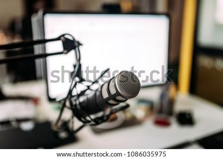 Home studio recording equipment.