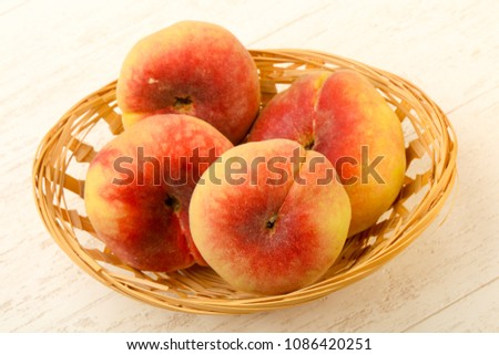 Sweet and juicy peaches #1086420251