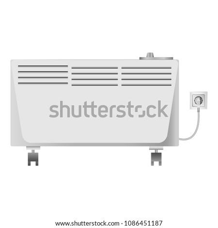 Heater equipment mockup. Realistic illustration of heater equipment mockup for web #1086451187