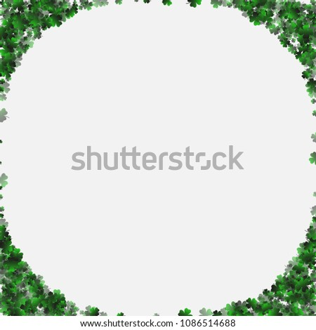 Clover green is a confetti which consist of many isolated elements. Stylish and beautiful clover green. Can be used as poster, border, background, wallpaper, card and etc #1086514688
