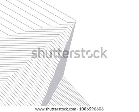 architecture geometric background Royalty-Free Stock Photo #1086596606