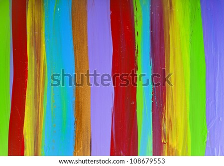 The abstract surface of paint colorful striped lines #108679553