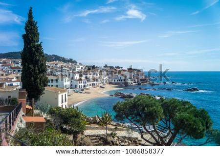 Coast of Spain. Catalonia. Calella de Palafrugell #1086858377