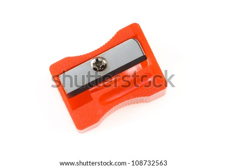 pencil sharpener isolated on white background Royalty-Free Stock Photo #108732563