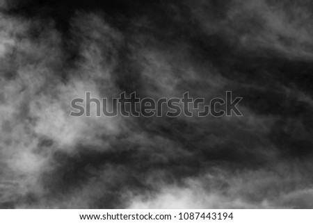 sky with black and white cloud textured background  #1087443194