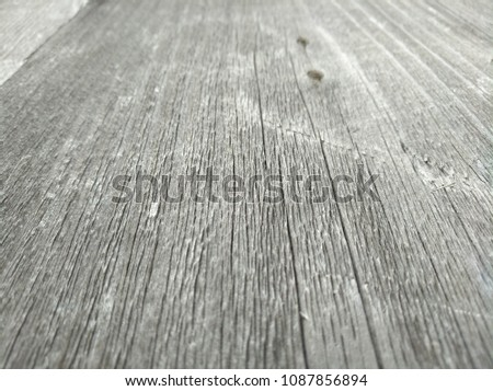 Old wooden planks in perspective. Wooden table. Background for advertisting. #1087856894