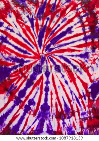 Colorful Abstract Tie Dye Pattern swirl Design Red and Purple Colors #1087918139