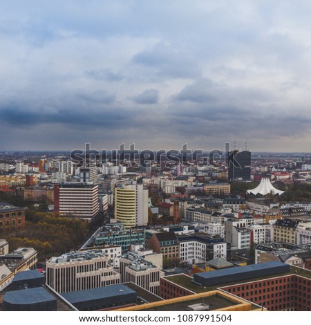 A view on Berlin from the Kollhoff Tower. #1087991504