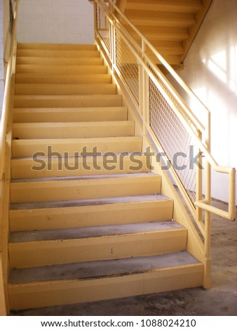 Interior Stairwell Yellow Metal                              #1088024210