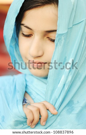 Close-up of a girl with hijab #108837896