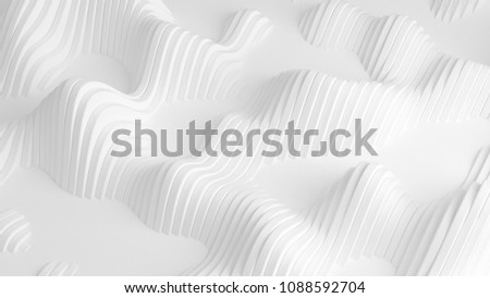 White background with lines. 3d illustration, 3d rendering. #1088592704