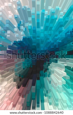 urban digital 3D extruded squares abstract colorful background #1088842640