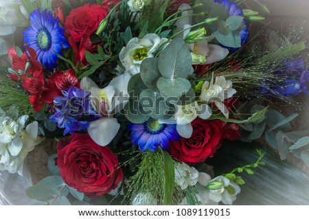 Beautiful flowers for the celebration of Norway's constitution day.Flower bouquets. #1089119015