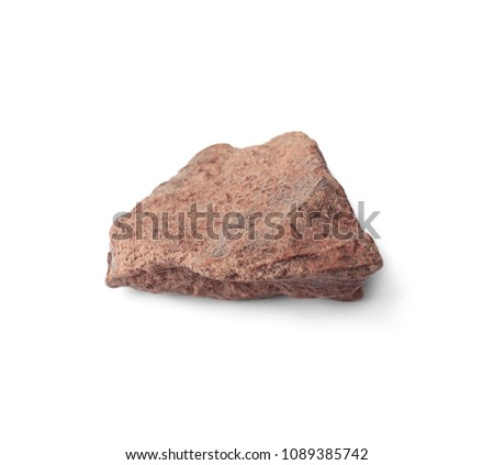 Delicious chocolate chunk on white background #1089385742
