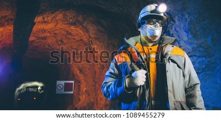 miner underground mining gold #1089455279