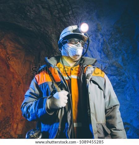 miner underground mining gold #1089455285